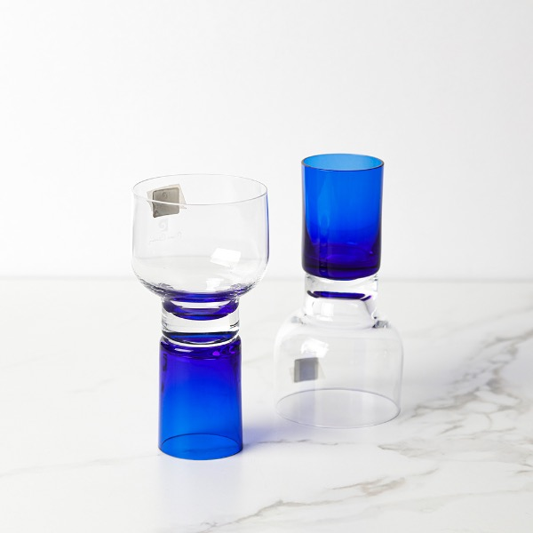 blue glass (each)