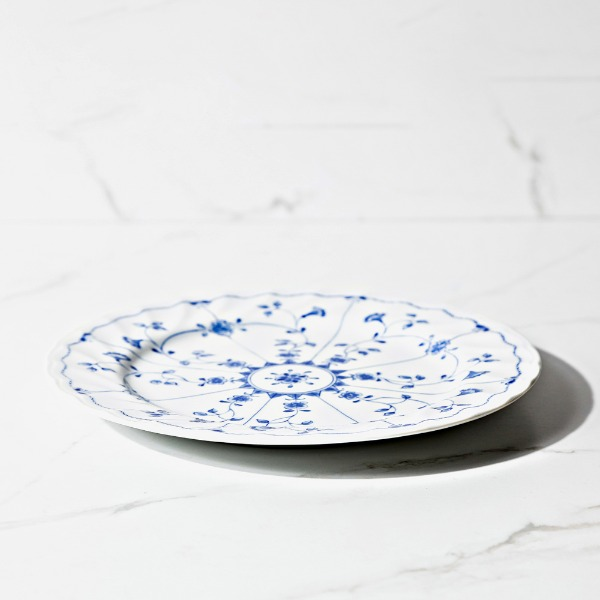 blue flowers dish